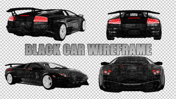Black Car Wireframe