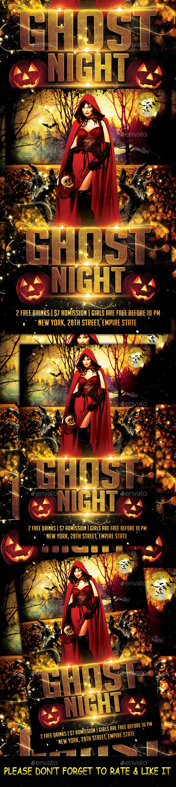 Ghost Night Flyer - Flyers Print Templates