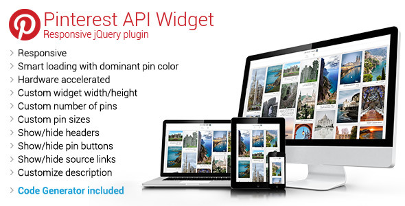 Pinterest API Widget - Responsive jQuery Plugin - CodeCanyon Item for Sale