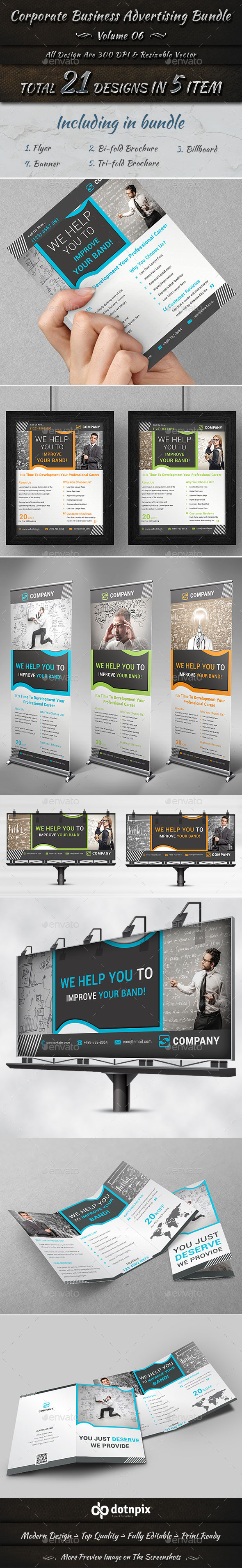 Corporate Business Advertising Bundle | Volume 6 - Corporate Flyers