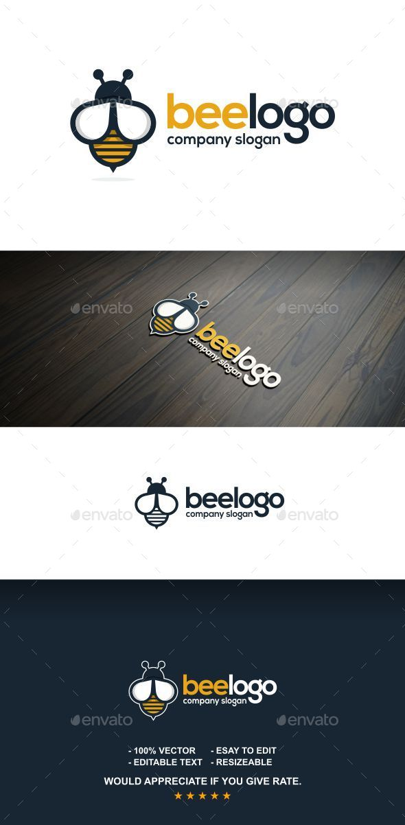 Bee logo - Letters Logo Templates
