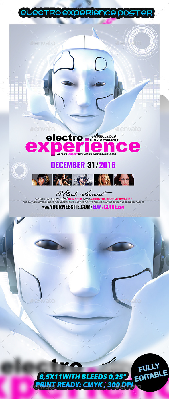 Electro Experience Poster - Events Flyers