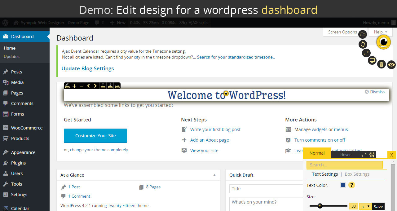 Synoptic web designer best wordpress design tool by for Website planning tool