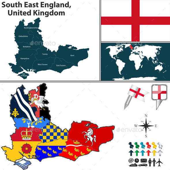 South East England, United Kingdom - Travel Conceptual