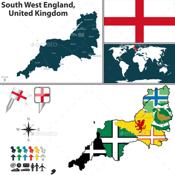 South West England, United Kingdom - Travel Conceptual