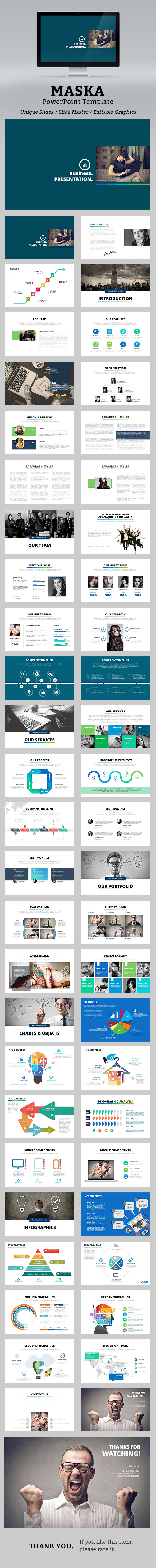 Maska PowerPoint Template - Business PowerPoint Templates