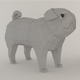 The Pug dog Low poly - 3DOcean Item for Sale