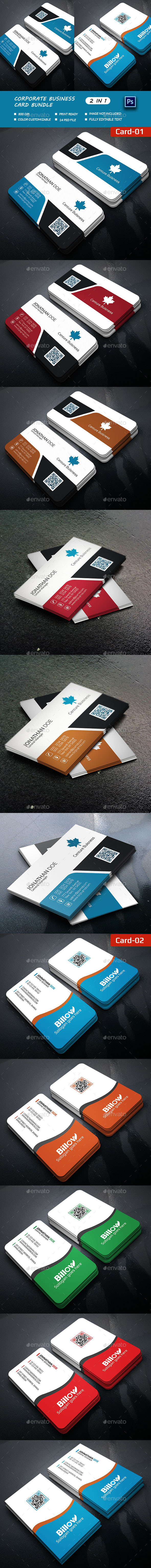 2-Shape Business Card Bundle