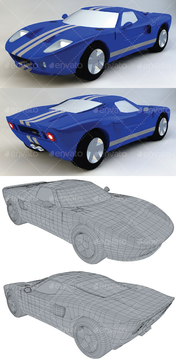 Ford GT Toy - 3DOcean Item for Sale
