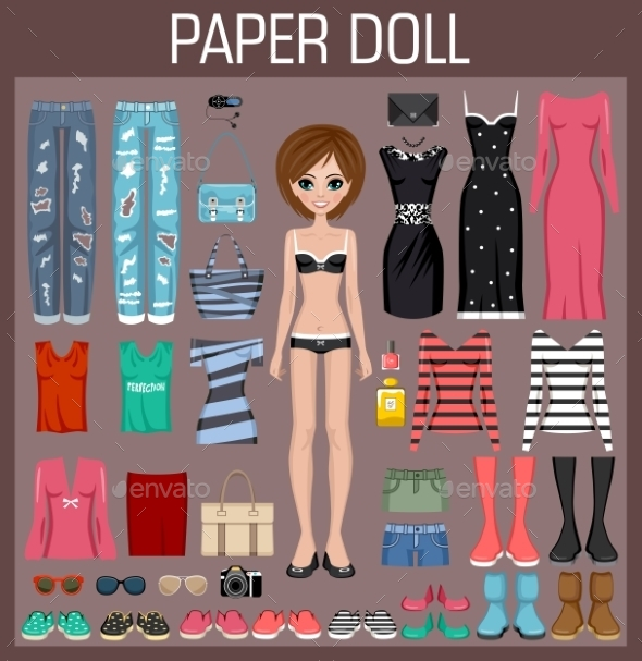Paper Doll With Clothes - People Characters