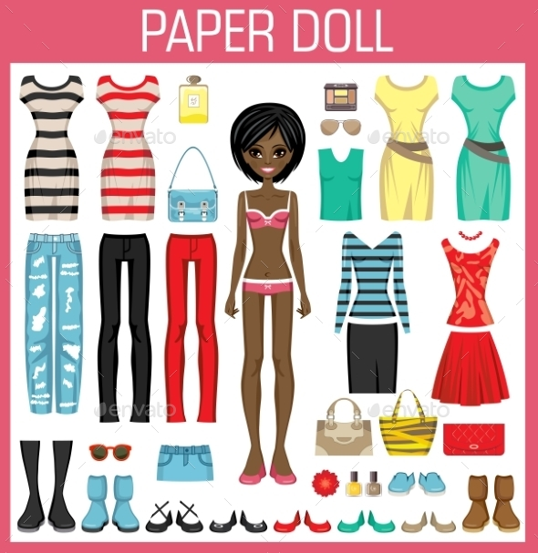 Paper Doll With Clothes - Sports/Activity Conceptual