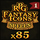 85 RPG Fantasy Spells Icons - GraphicRiver Item for Sale