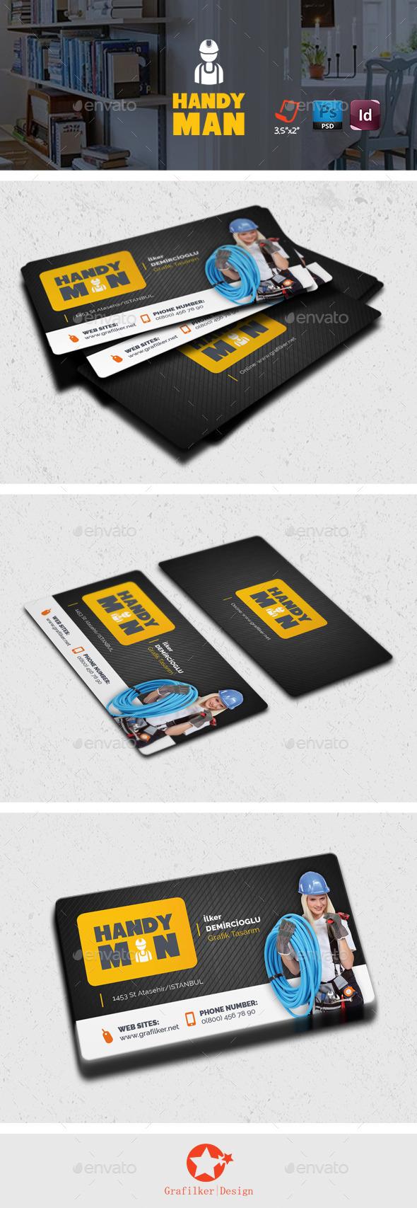 Handyman Business Card Templates