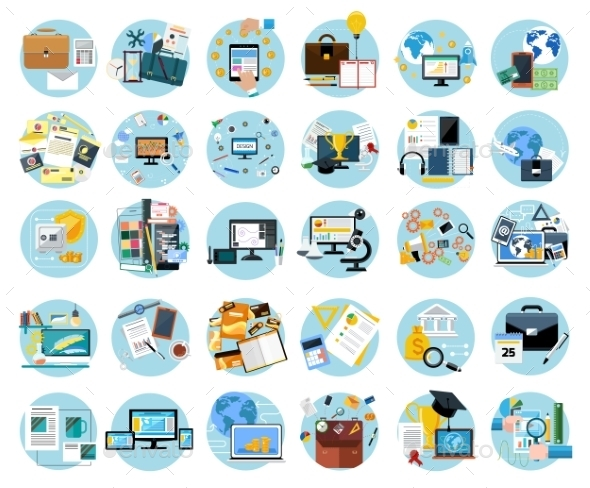 Icons Set For Business - Concepts Business