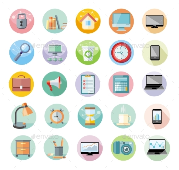 Office And Time Management Icon Set - Concepts Business