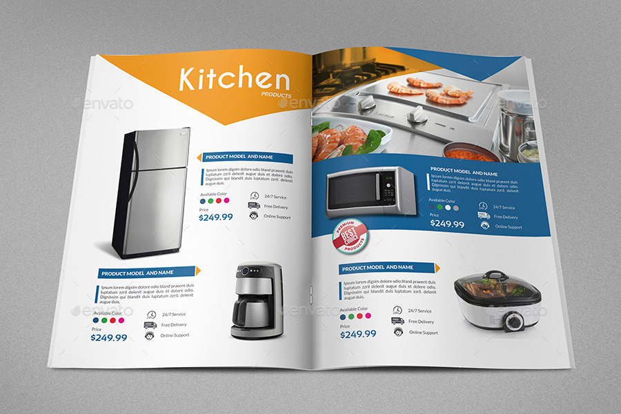 Products catalog brochure template vol2 24 pages by for Product brochure template word