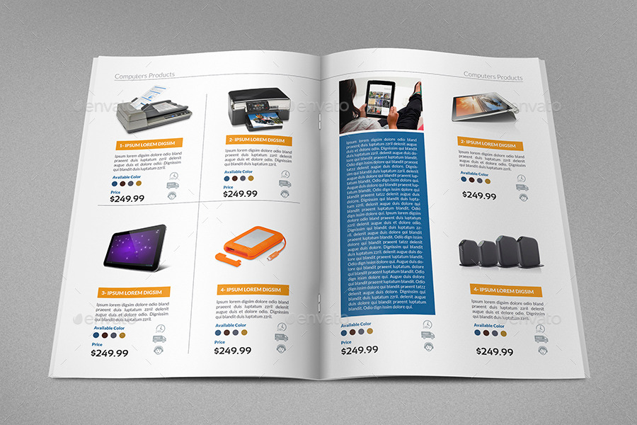 Products catalog brochure template vol2 24 pages by for Sample product catalogue template