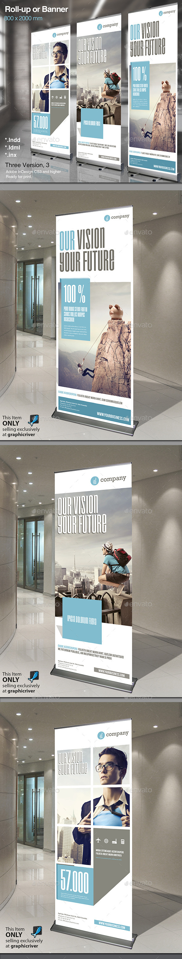 Corporate Roll-up or Banner Vol. 2 - Signage Print Templates