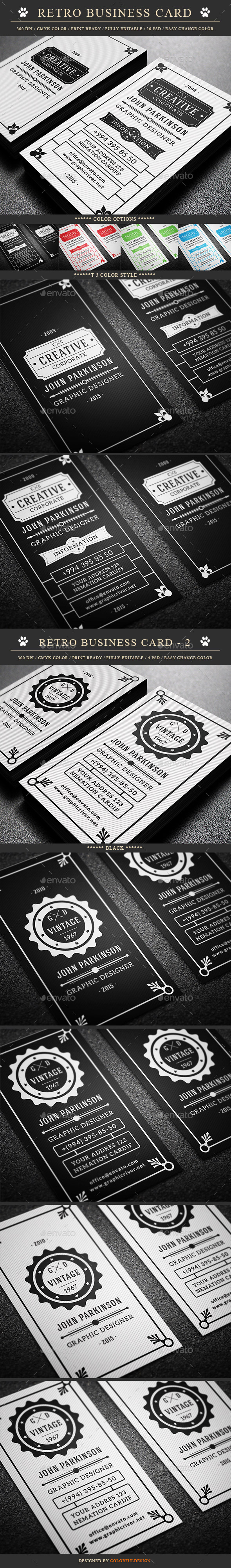 Retro Business Card Bundle