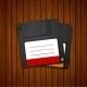 Vector Modern Diskette On Wooden Background. - GraphicRiver Item for Sale