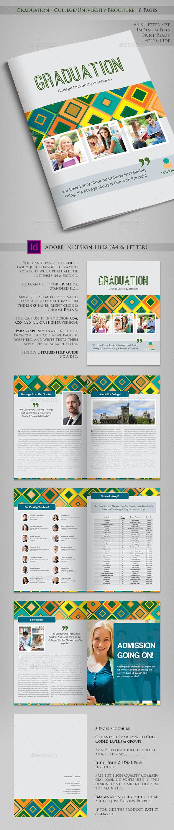 Graduation - College/University Prospectus - Informational Brochures