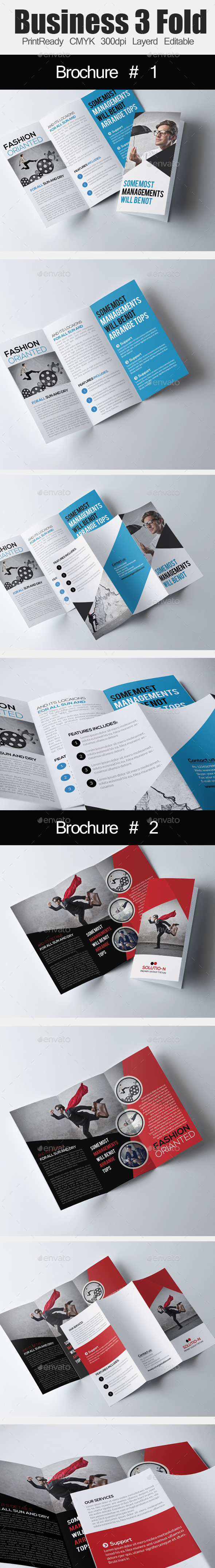 Tri Fold Business Brochure Bundle - Corporate Brochures
