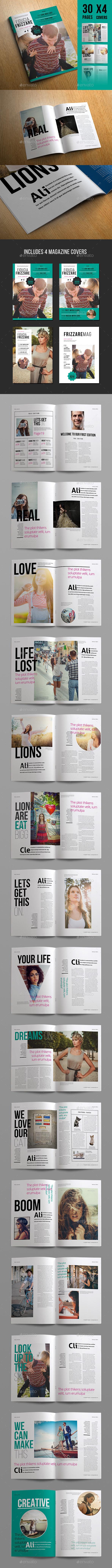 Frizzare Magazine - Magazines Print Templates