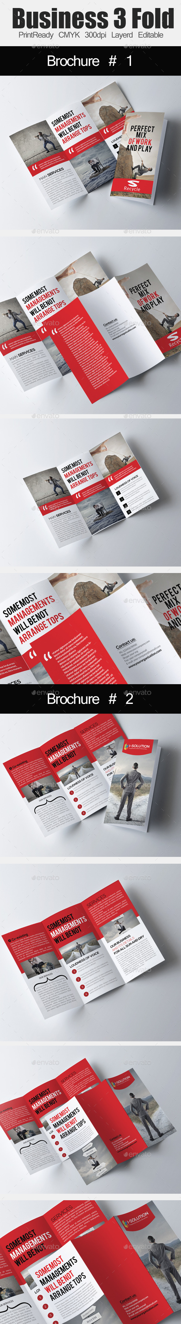 Corporate Tri Fold Brochure Bundle - Corporate Brochures