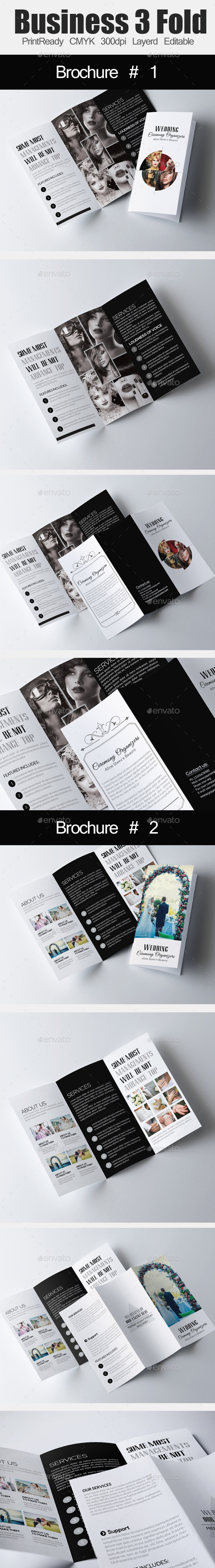 Wedding Tri Business Brochure Bundle - Corporate Brochures