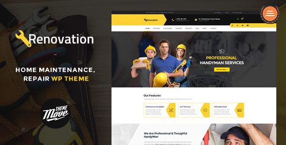 Renovation – Home Maintenance, Repair Service Theme