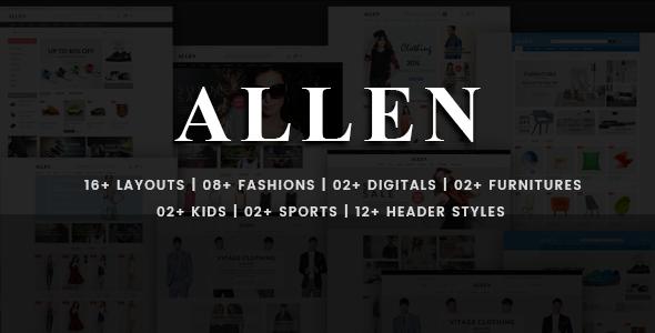 Allen - Multi-Purpose PSD Template - Creative PSD Templates
