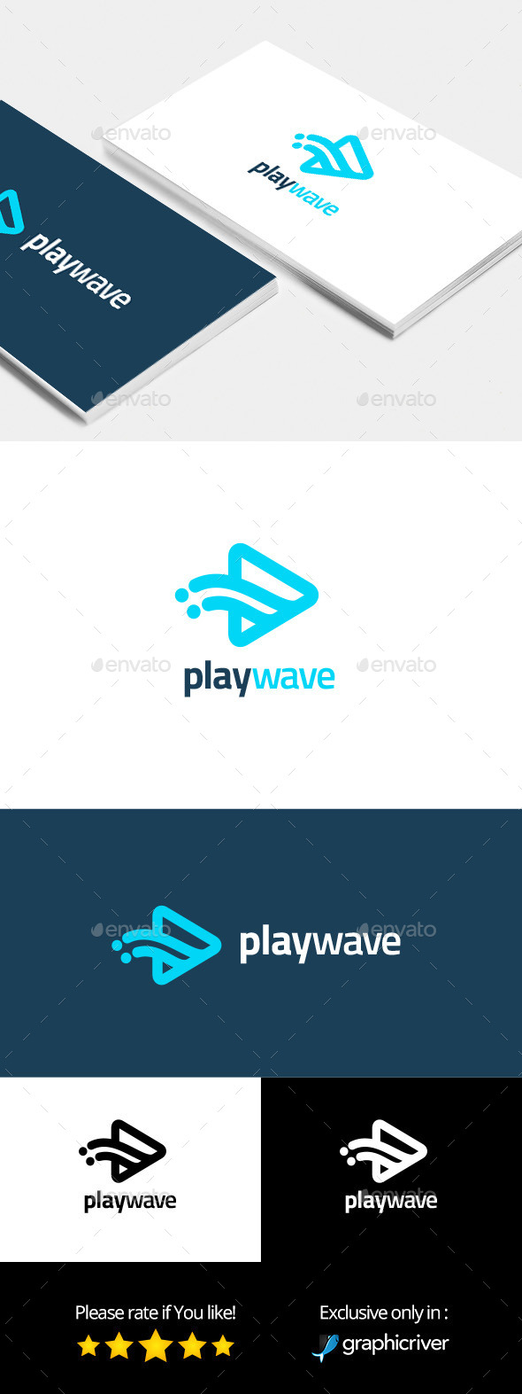 Play Wave Logo Template