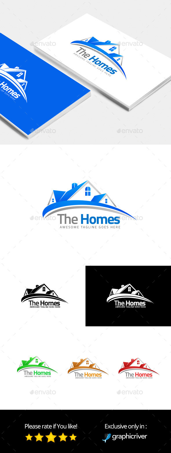 The Homes – Logo Template - Buildings Logo Templates