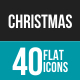 Christmas Flat Multicolor Icons