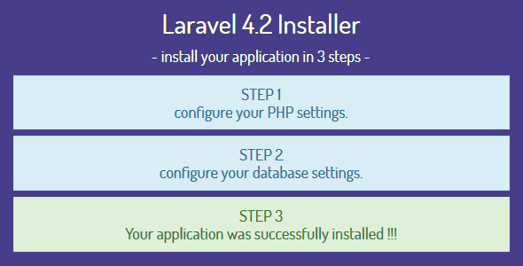 Laravel 4.2 Installer - Installation Script - CodeCanyon Item for Sale