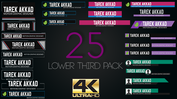 25 Lower Thirds Pack