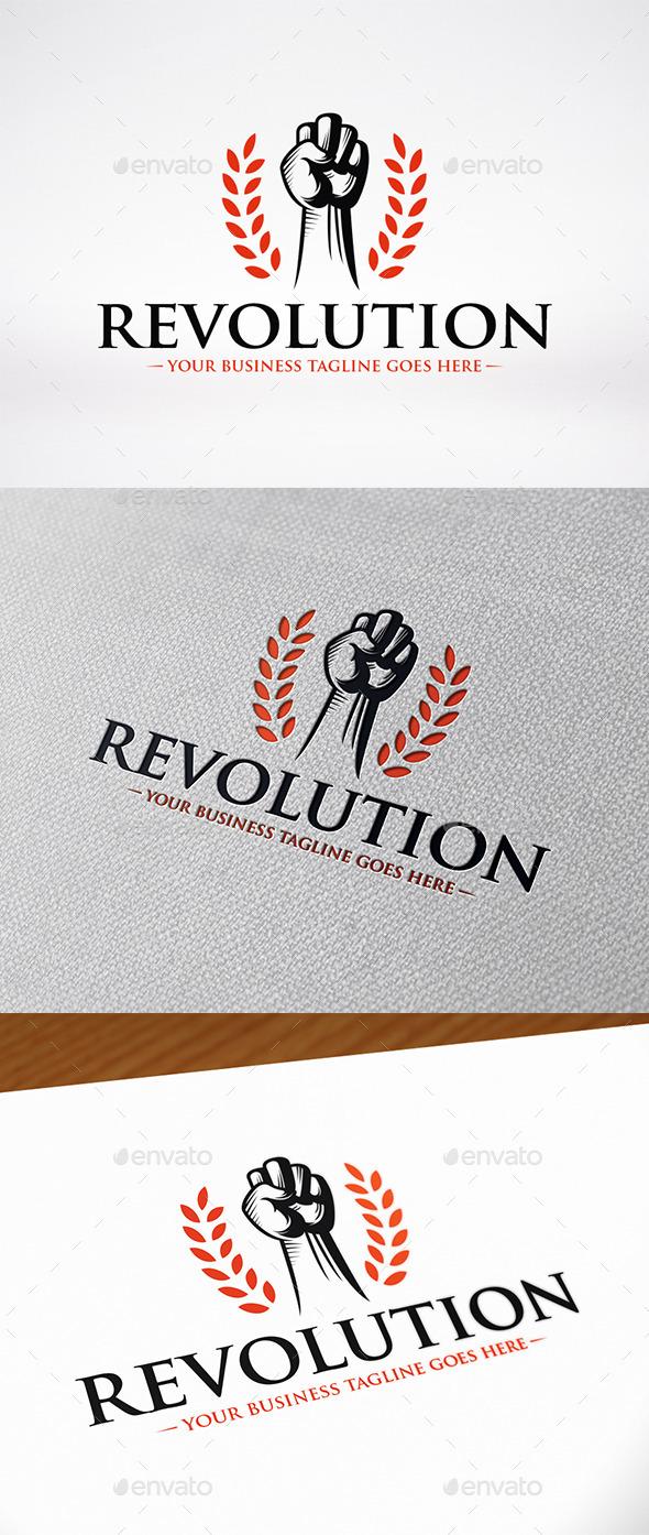 Revolution Fist Logo Template - Humans Logo Templates