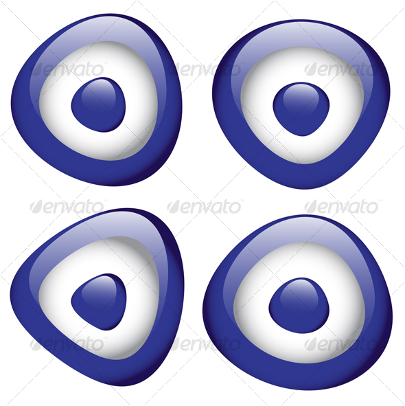 evil eye bead - Characters Vectors