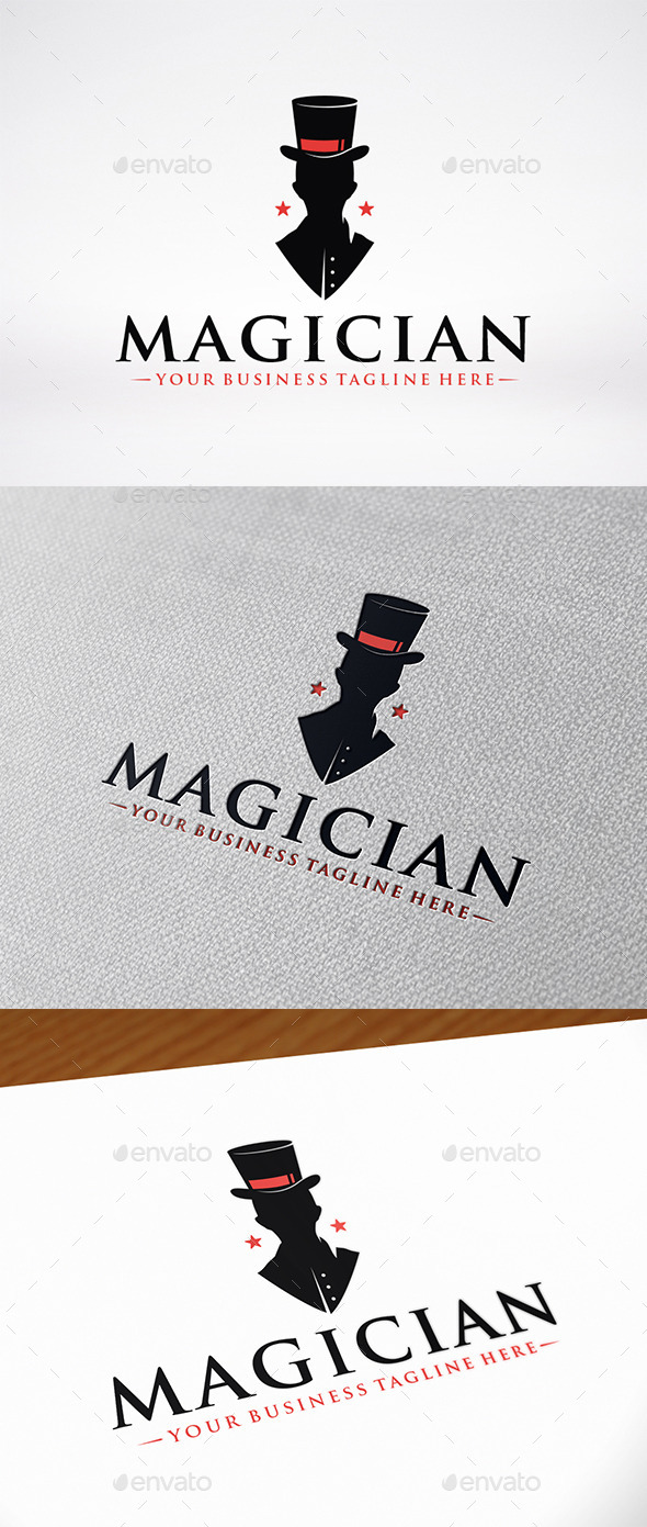 Magician Logo Template - Humans Logo Templates