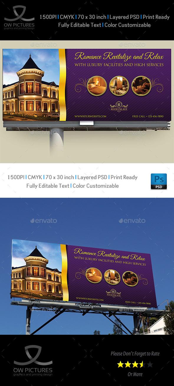 Hotel Billboard Template - Signage Print Templates