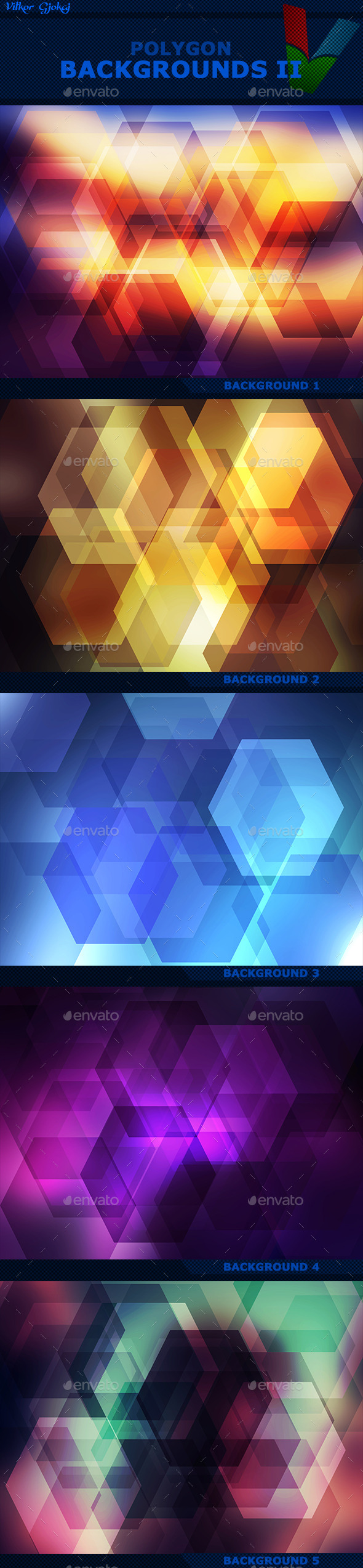 Polygon Backgrounds II - Abstract Backgrounds