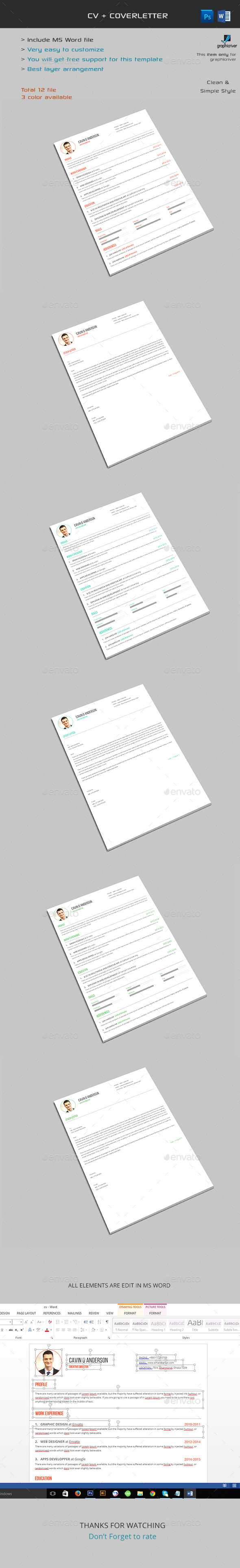 The CV/Resume - Stationery Print Templates
