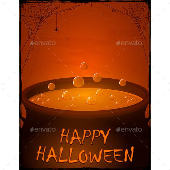 Halloween Pot with Potion - Halloween Seasons/Holidays