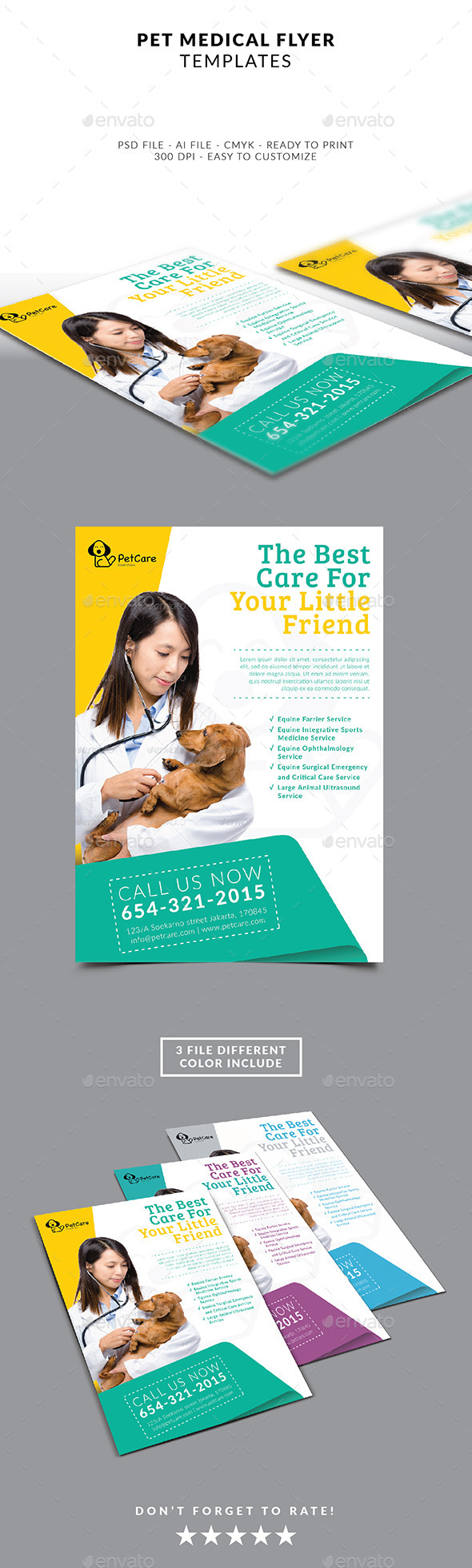 Pet Services Flyer Template - Flyers Print Templates