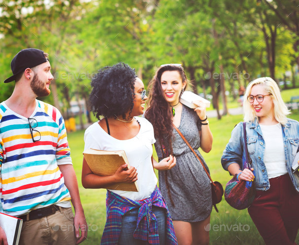 Diversity Teenagers Friends Friendship Team Concept - Stock Photo - Images