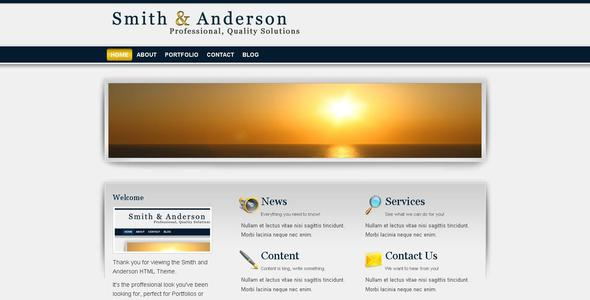 Smith & Anderson : Business & Portfolio Template