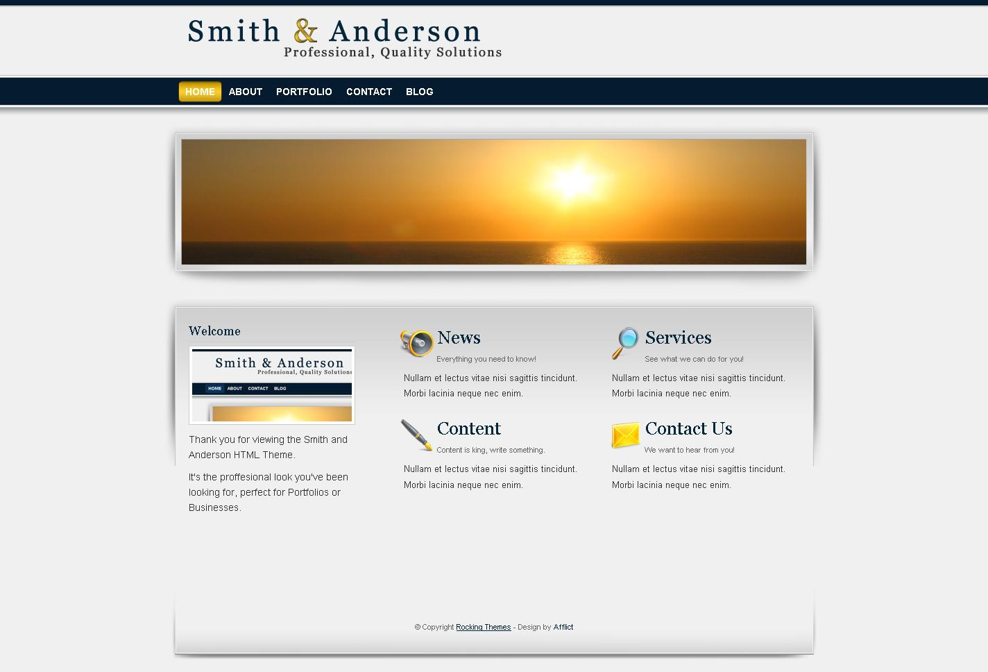 Free Download Smith & Anderson : Business & Portfolio Template Nulled Latest Version