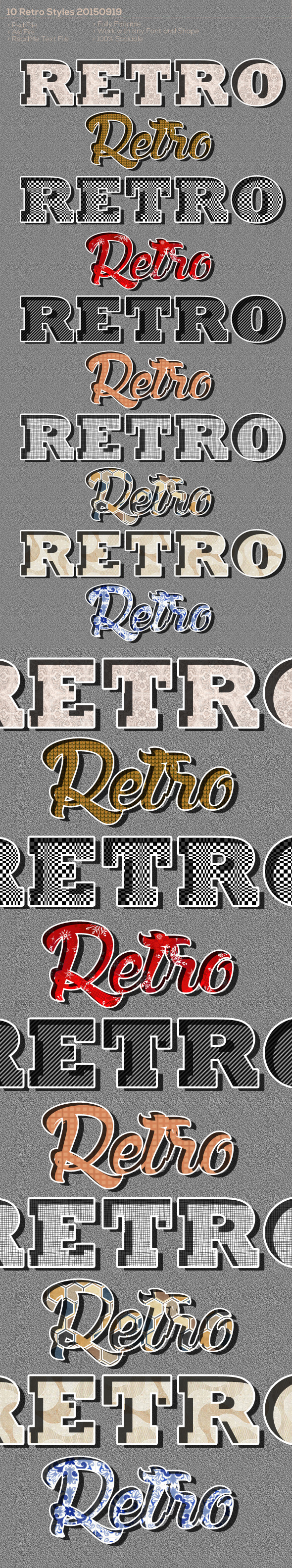 10 Retro Styles 20150919 - Text Effects Styles