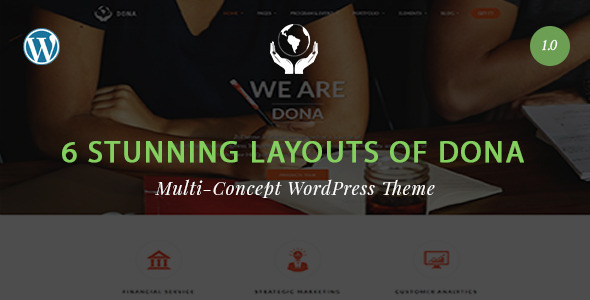 DONA – Multi Concept Noprofit WordPress Theme
