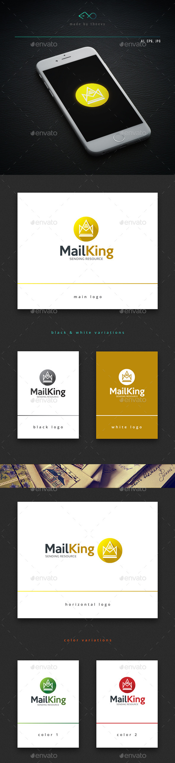 Mailking - Objects Logo Templates